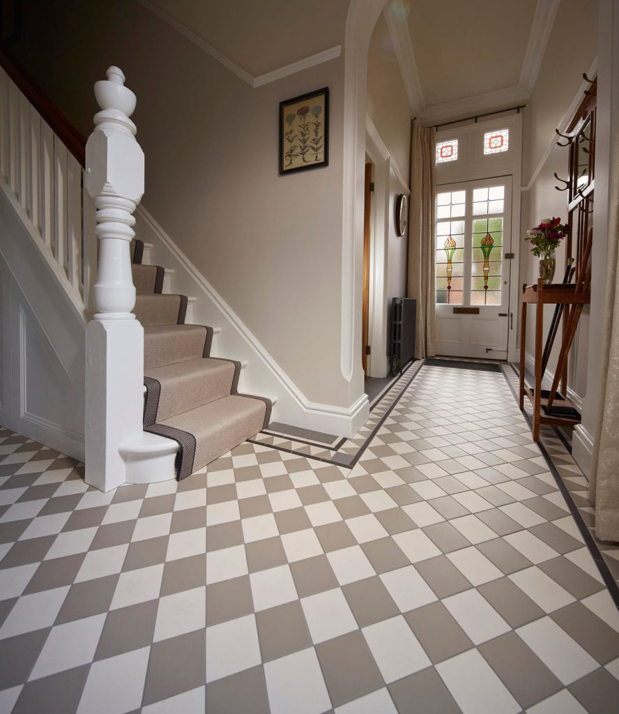 Statement Hall Btw Baths Tiles Woodfloors