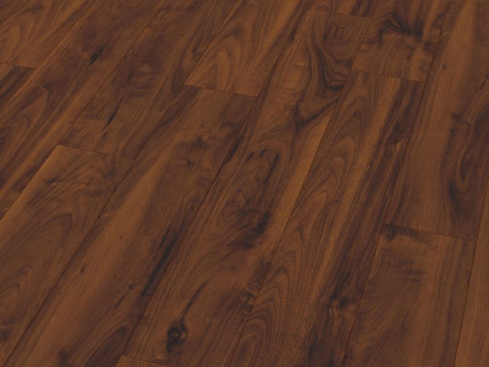 American Walnut Gloss Laminate Flooring Btw Baths