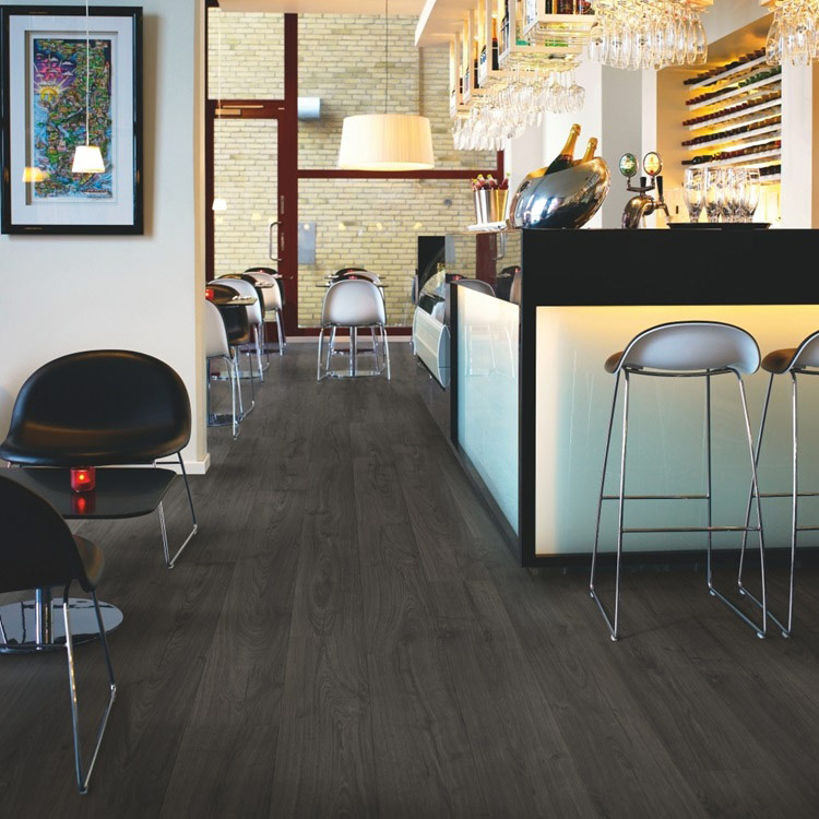 Black Pepper Oak Laminate Flooring Btw Baths Tiles Woodfloors