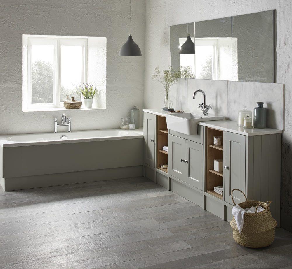 Burford Pebble Grey Fitted Bathroom Furniture Btw