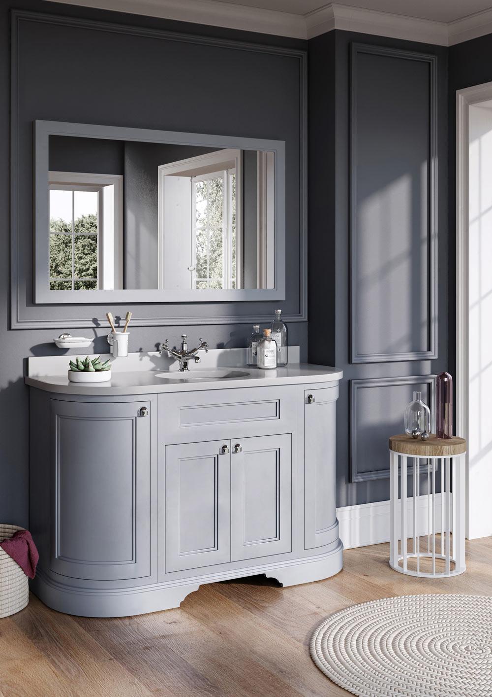 1340 Curved Vanity Unit Btw Baths Tiles Woodfloors