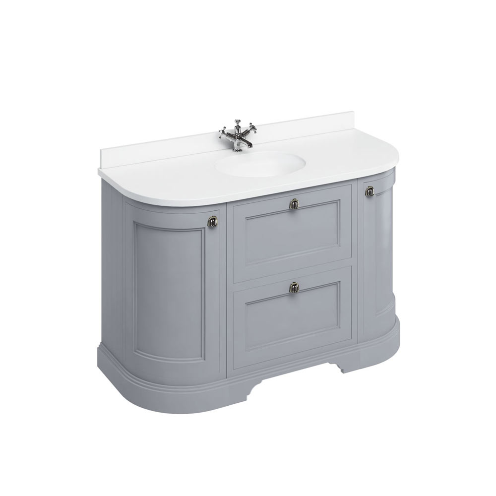 1340 Curved Vanity Unit Btw Baths Tiles Woodfloors