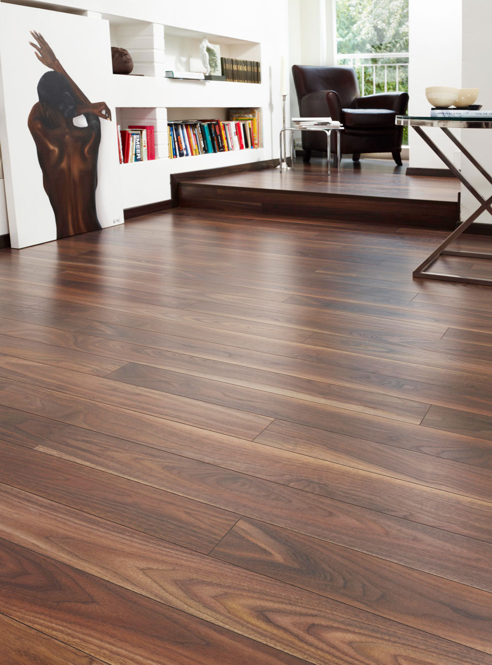 Rich Walnut Laminate Flooring Btw Baths Tiles Woodfloors