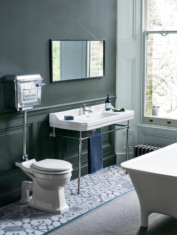 Standard Medium Level WC With Chrome Lever Cistern | btw - baths ...
