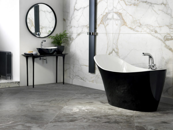 Amalfi Black Bath