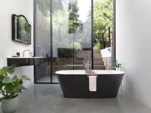 Vetralla Freestanding Bath Black