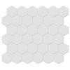 Rock Art Mosaic Tile White