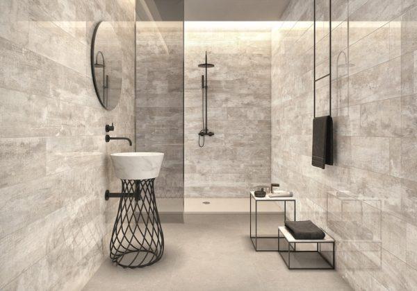 Silent Polished Bathroom Tiles