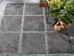 Tracks Grey 20mm Outdoor Tile