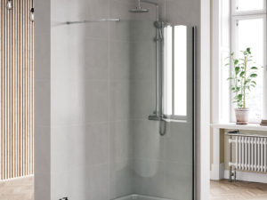 Curved Wetroom Panel Chrome