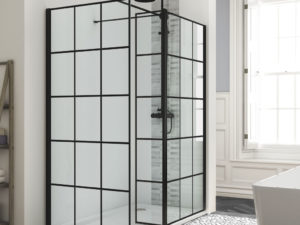 Black Edition Frame Effect Wetroom Panel