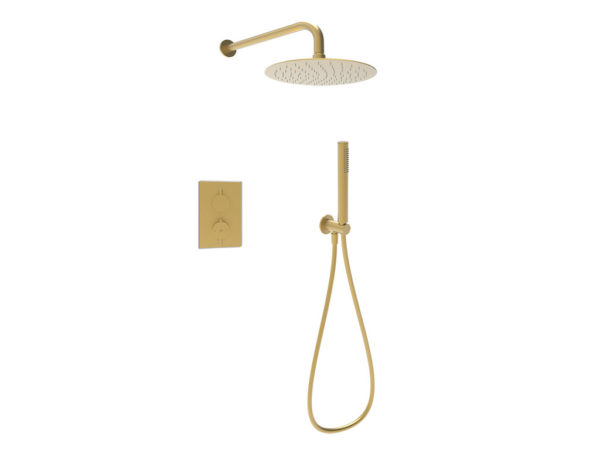 Brushed Brass Shower Kit 1