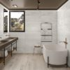 Channel White Bathroom Tiles