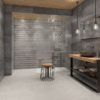 Channel Gray and Mix Devon White Tile